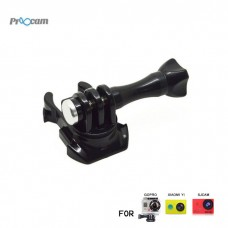 Proocam Pro-F132 360-degree Turntable Quick Buckle with Screw for Gopro Hero , SJCAM , MIYI