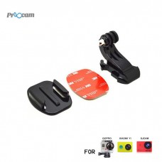 Proocam Pro-J057 J-Hook Buckle Flat Mount with 3M Sticker for Gopro Hero action camera